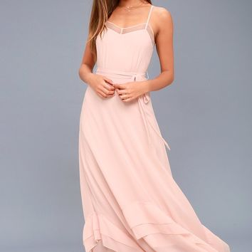 Stars in Your Eyes Blush Pink Maxi Dress