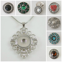 Chunk Charm 7 Assorted snap pack Plus Filigree pendant fit Noosa /Ginger snaps. Free shipping!
