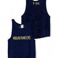 West Virginia University High-Low Tank - PINK - Victoria's Secret