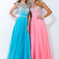Sheer High Neckline Tony Bowls Le Gala Formal Prom Dress 114516