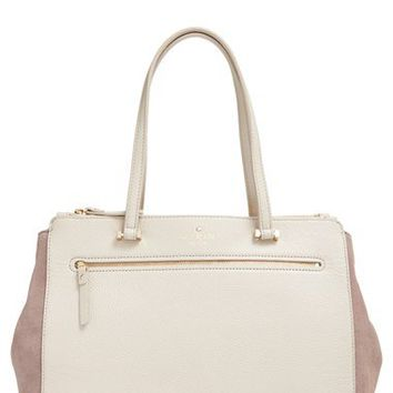 kate spade new york 'matthews drive - holland' suede & leather tote | Nordstrom