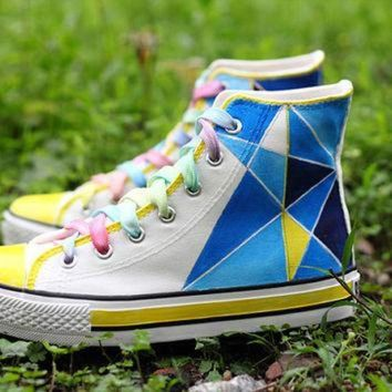 VLXZRBC Geometric galaxy sneakers,exo galaxy vans shoes,custom vans,summer love best gift cust
