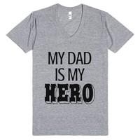 My Dad is My Hero-Unisex Athletic Grey T-Shirt