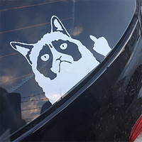 Grumpy Cat Flippin' Off vinyl Car Laptop Graphics window Sticker Decal