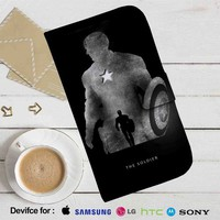 Captain America Silhouette Leather Wallet iPhone 4/4S 5S/C 6/6S Plus 7| Samsung Galaxy S4 S5 S6 S7 NOTE 3 4 5| LG G2 G3 G4| MOTOROLA MOTO X X2 NEXUS 6| SONY Z3 Z4 MINI| HTC ONE X M7 M8 M9 CASE