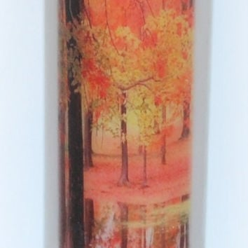 Autumn Season Candles, autumn leaves, inspirational candle, seasonal candle, religious home decor, thanksgiving fall candles, nature candles