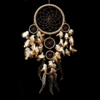 "Dream Catcher ~ Handmade Traditional String Natural Color 8.5"" Diameter & 22"" Long!"