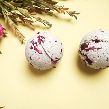Feminine Wash Bath Bomb Set (2) Gentle Cleansing, Moisture, Balance, Detox + Natural Ingredients - Bath & Body Safe
