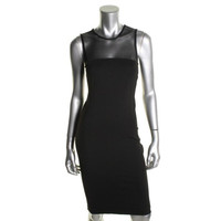 Torn By Ronny Kobo Womens Ponte Perforated Clubwear Dress