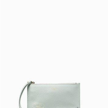 on purpose embellished mini leather wristlet | Kate Spade New York