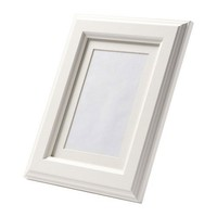 Ikea Virserum Photo Picture Frame White Wood Glass