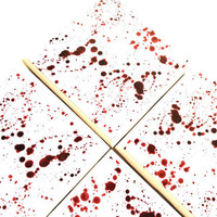 Blood Splatter Coasters, Red Ink Ceramic Tile, Dexter Inspired, Crime Scene Drink Table Set