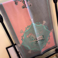 Hermes Women Scarf Shawl Silk Cape Scarf Scarves-19