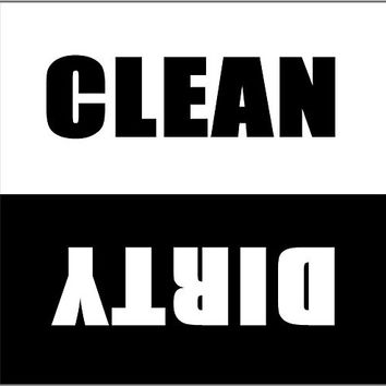 Clean Dirty Dishwasher Magnet - 2.5 X 2.5 Inches