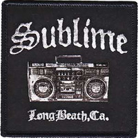 Sublime Iron-On Patch Boom Box Logo