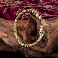 Dawapara Viking Bracelet Male Pagan Jewellery Gold-color Bangle&Bracelet For Man and Women Jewelry and Accessories
