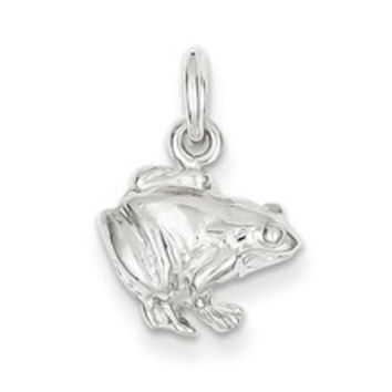 Frog Charm in Sterling Silver