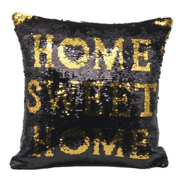 Two Tone Glitter Sequins Throw Pillows Decorative Covers Pillowcase