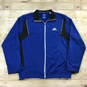 Adidas CLIMACOOL Track Jacket Blue / Black Mens Size XL