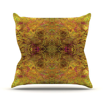 "Nikposium ""Goldenrod"" Gold Yellow Throw Pillow"
