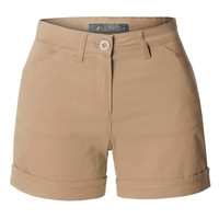 Mid Rise Fitted Solid Chino Shorts with Pockets
