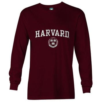 Harvard Crest Long Sleeve T-Shirt (Crimson)