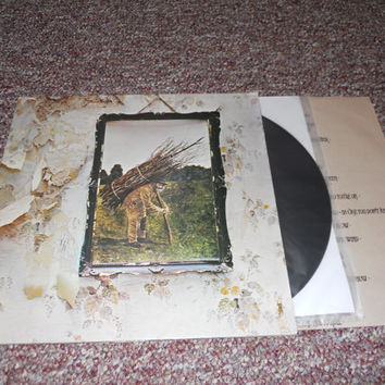 Led Zeppelin IV Ruins Zoso Vinyl Record LP 1971  SD19129 Columbia Record Club Issue