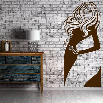 Girl Teen Mermaid Sexy Decor For Bedroom Wall Sticker Vinyl Decal  Unique Gift (z1119)