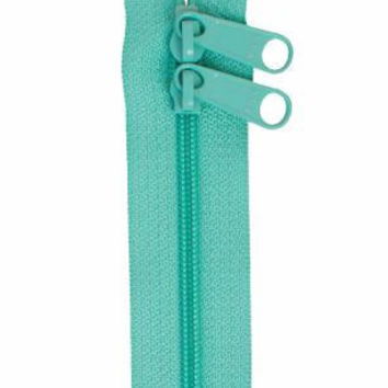 Handbag Zipper 30 inches Turquoise Double Slide