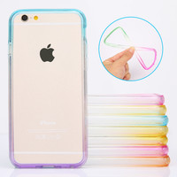 New Arrival Fashion Soft TPU Silicon Gradient Colors bumper for iphone 6 plus Top Sales Ultra Thin cell phone cover cases