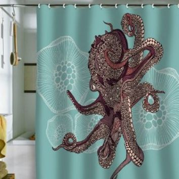 Amazon.com: DENY Designs Valentina Ramos Octopus Bloom Shower Curtain, 69 by 72-Inch: Home & Kitchen