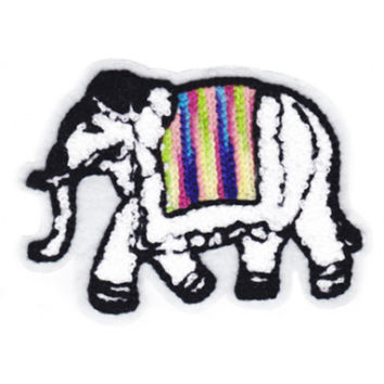 Large Chenille Indian Elephant Patch 12cm