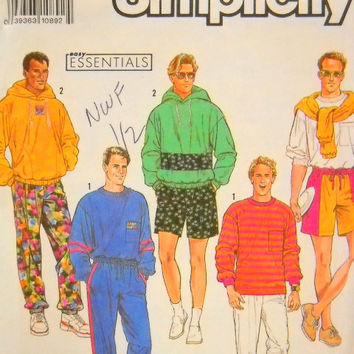 Simplicity pattern 7073, Sportswear, Un Cut, XS thru XL, Hoodie, Sweats, Sewing Notions
