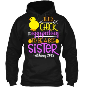 Funny Easter Pregnancy Announcement T Shirt Big Sister Pullover Hoodie 8 oz