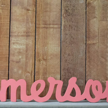 Emerson Custom Wooden Name Sign - Nursery - Baby Name - Wedding - Shower Gift - Baby Name Sign, Kid's room decor, Nursery Nesting