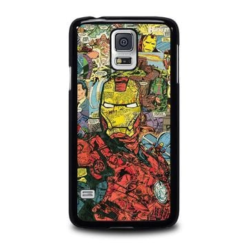 iron man comic collage samsung galaxy s5 case cover  number 2