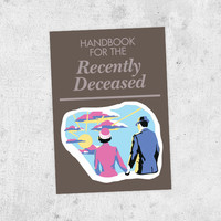 "Beetlejuice Sticker! ""Handbook for the Recently Deceased"" tim burton, prop, journal, winona ryder, horror"