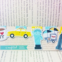 New York Mini Magnetic Bookmarks
