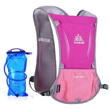 AONIJIE Women Men Lightweight Running Backpack Outdoor Sports Trail Racing Marathon Hiking Hydration Vest Pack 1.5L Water Bag