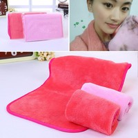 Microfiber Cloth Pads Remover Towel Face Cleansing Makeup Remover Towel #F
