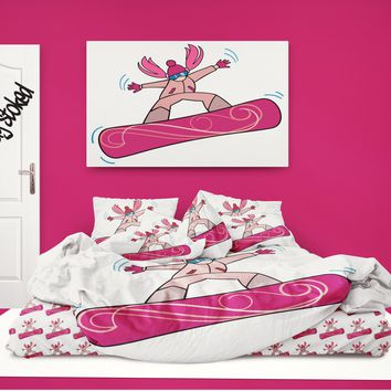 "NEW Snowboard Comforter ""Rad Snowboard Girl"" from Extremely Stoked"