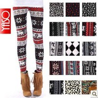 multi-style Nordic Snow Knitted Womens Leggings Tights, Comfy, Great Quality