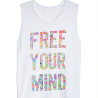 Free Your Mind Tank - White