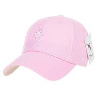 WITHMOONS Disney Mickey Mouse Hands Up Embroidery Baseball Cap CR1259 (Pink)