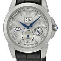 Seiko Mens Le Grand Sport Kinetic - Stainless Case - Textured Dial - Black Strap
