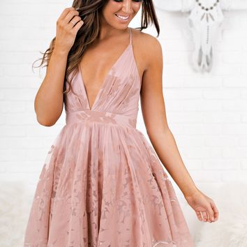 Own The Night Tulle Dress (Blush)