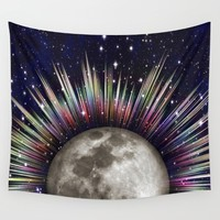 Moonrise Wall Tapestry by Inspired Images
