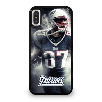 ROB GRONKOWSKI NEW ENGLAND PATRIOTS 2 iPhone 5/5S/SE 5C 6/6S 7 8 Plus X/XS Max XR Case Cover