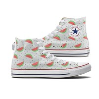 Watermelon Converse High Top Chucks