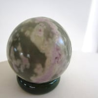 Small Peace Lotus Jasper Carved Crystal Sphere Ball